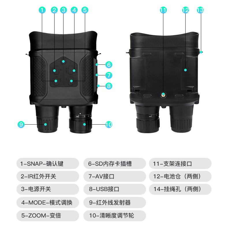 优惠|美可瑞红外线双筒数码夜视仪,无光可视插图(4)